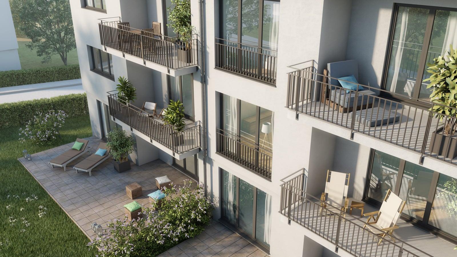 Immobilie Haeckerstraße 12: nutzbare Balkone