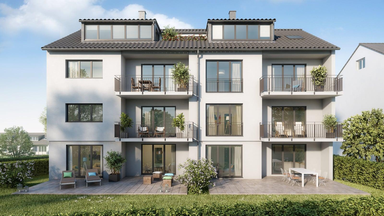 Immobilie Haeckerstraße 12: Mehrfamilienhaus Frontansicht