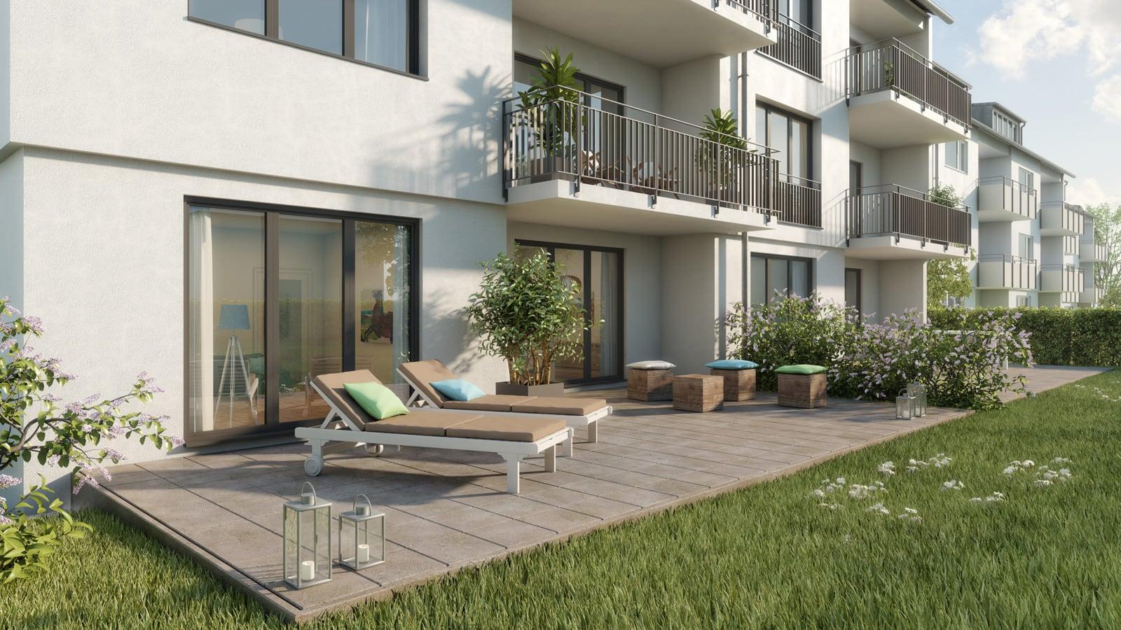 Immobilie Haeckerstraße 12: großzügige Terrasse